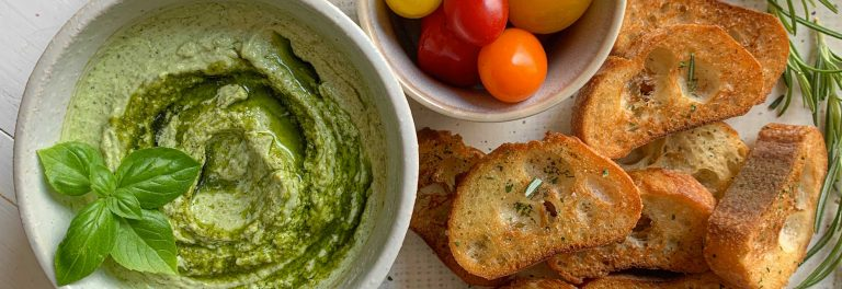 Our favorite Mediterranean sauce lightened up into a flavorful dip.