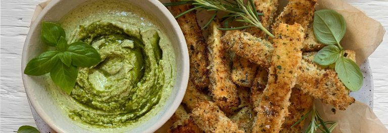 Crispy, crunchy, flavorful oven-baked zucchini fries.