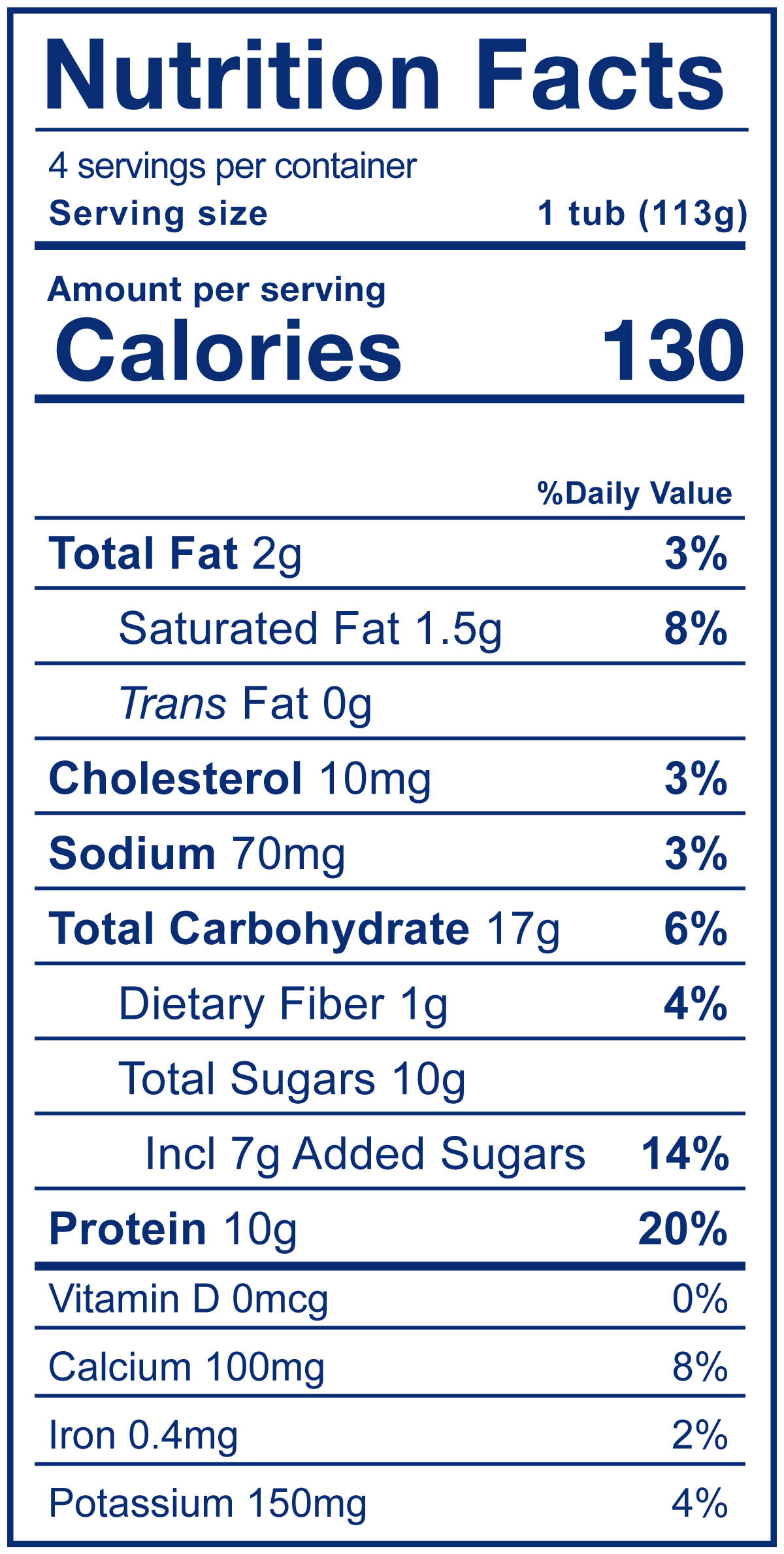Kids Low Fat Strawberry Yogurt and Choco Chimp Cereal - Nutrition Facts
