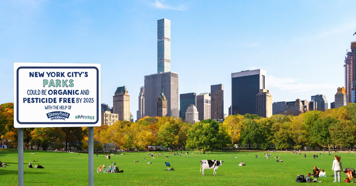 Stonyfield Organic Aims to Convert NYC and Chicago Parks into Organic Grounds by 2025 as Part of Stonyfield #PlayFree Initiative