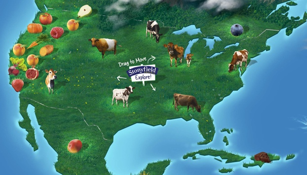 Map of Stonyfield Ingredient Sources