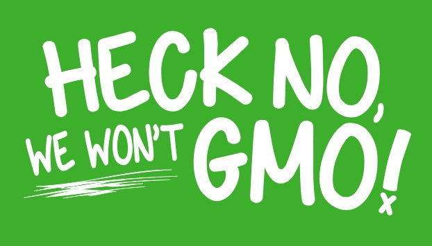 Heck no we won't gmo!