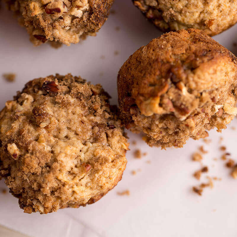 Apple Pecan Muffins | Stonyfield