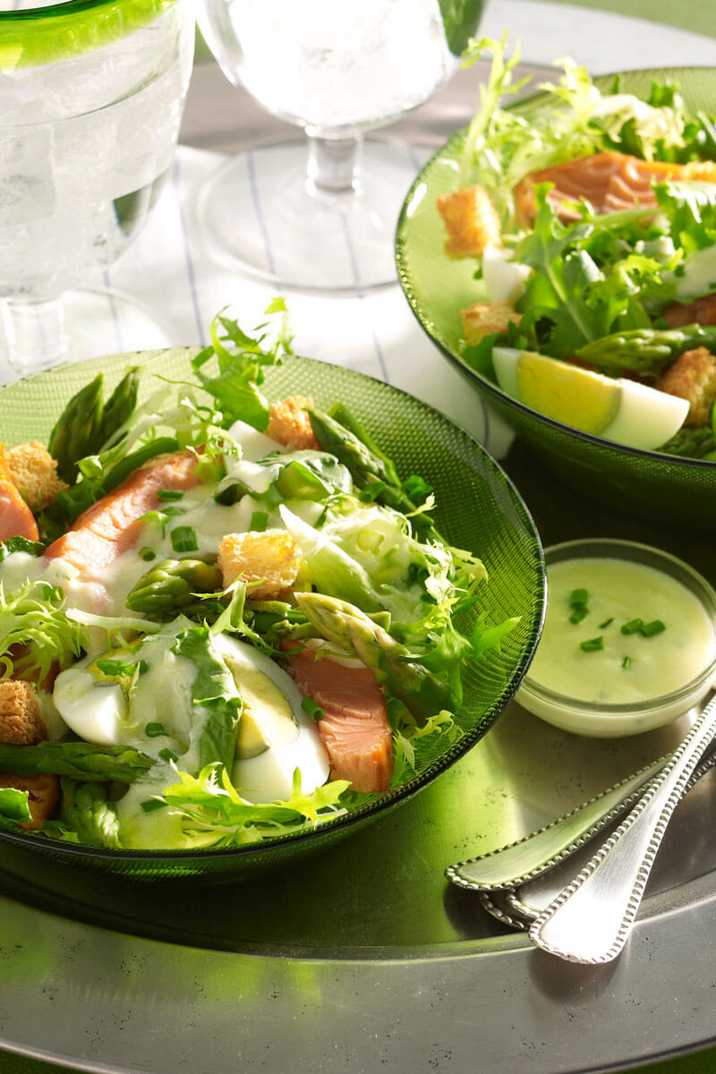 Asparagus and Smoked Salmon Salad | Stonyfield