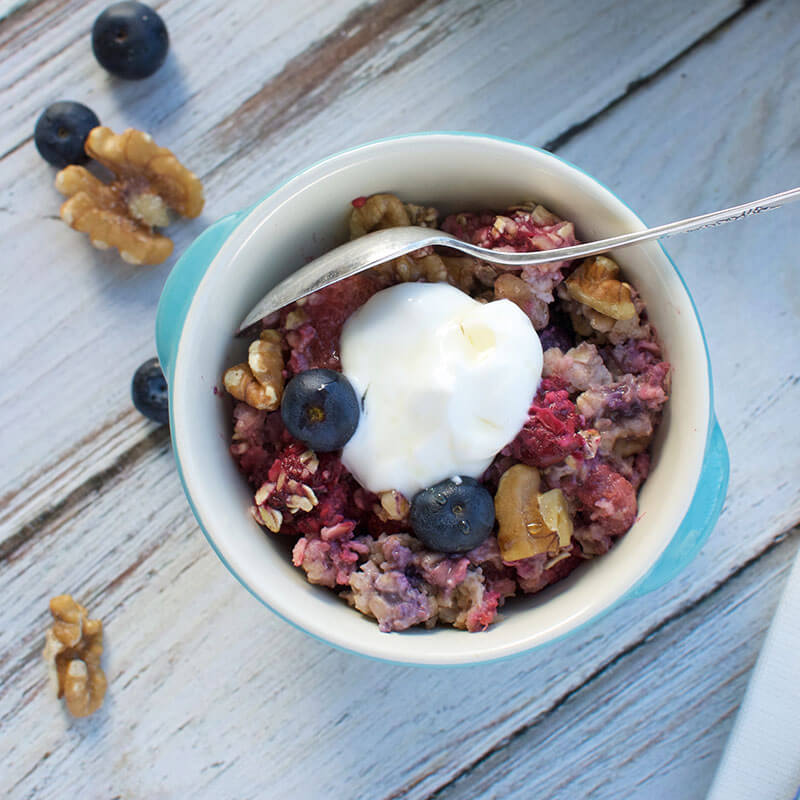 Berry Baked Oatmeal | Stonyfield Recipes