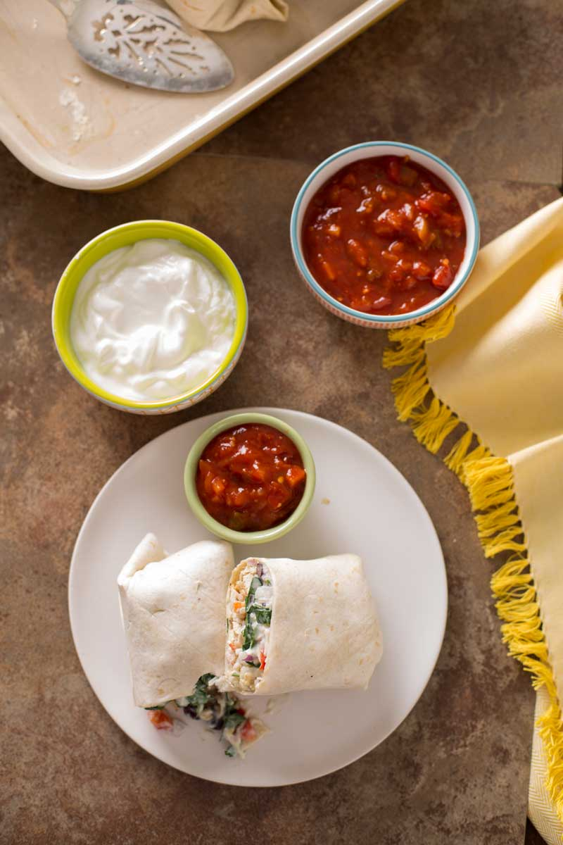 Chicken and Spinach Burritos | Stonyfield