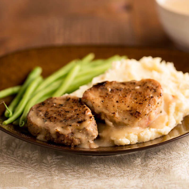 Juicy Pork Medallions with Mashed Parsnips | Stonyfield