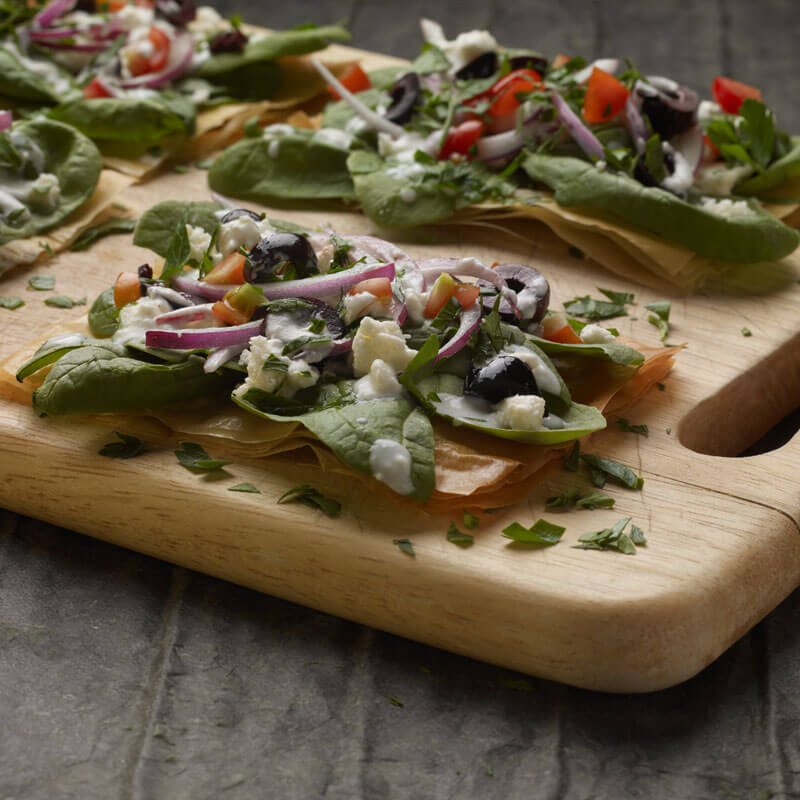 Phyllo Pizza Greek Style | Stonyfield