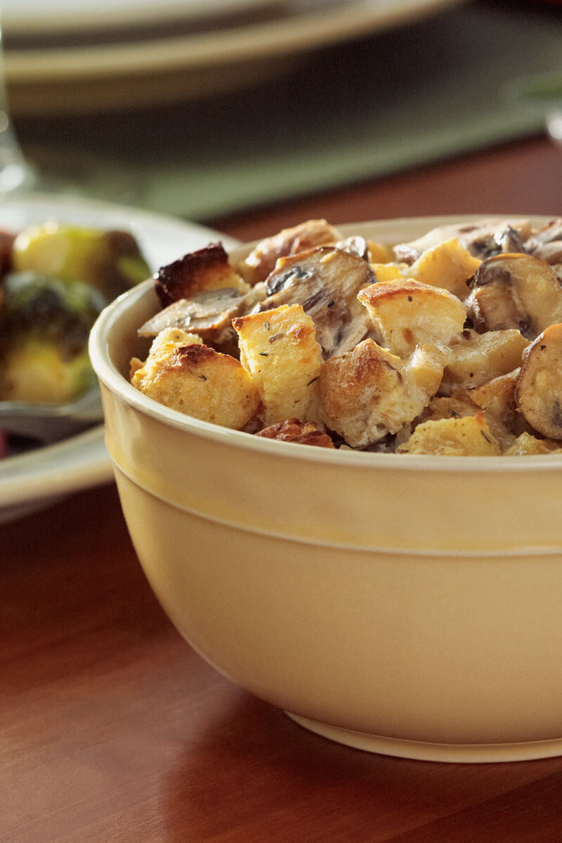 Roasted Parsnip Bread Pudding | Stonyfield