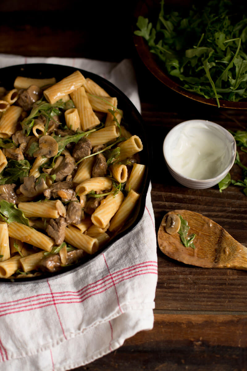 Seared Mushrooms & Sirloin with Savory Rigatoni | Stonyfield
