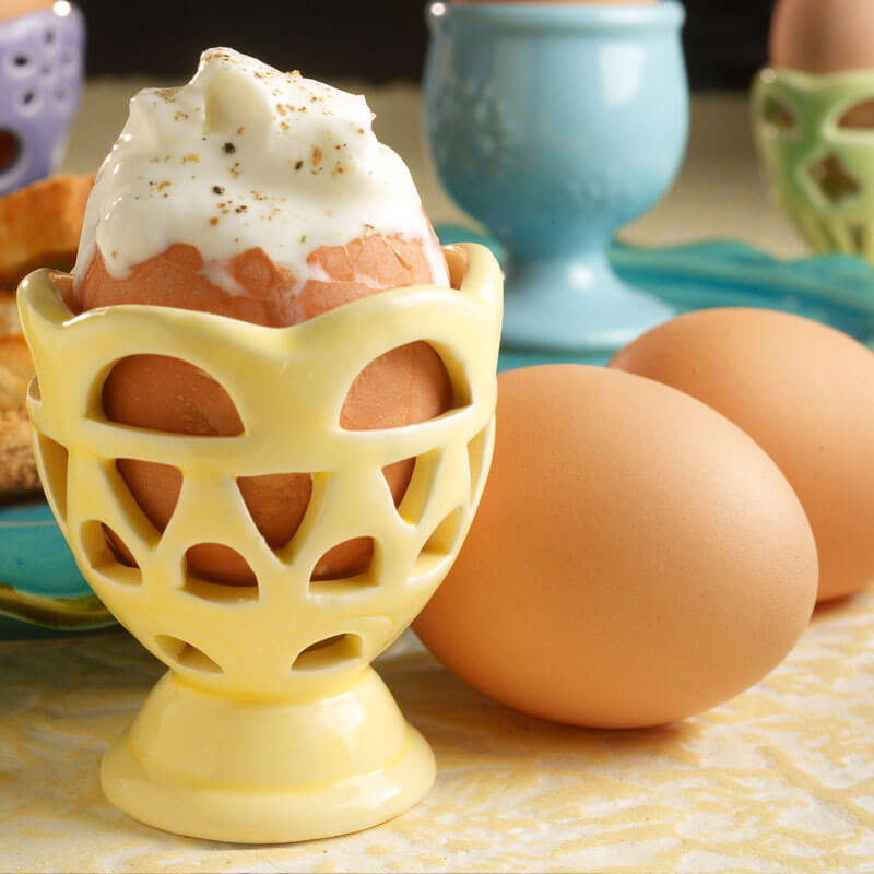 Soft Boiled Eggs with Yogurt | Stonyfield