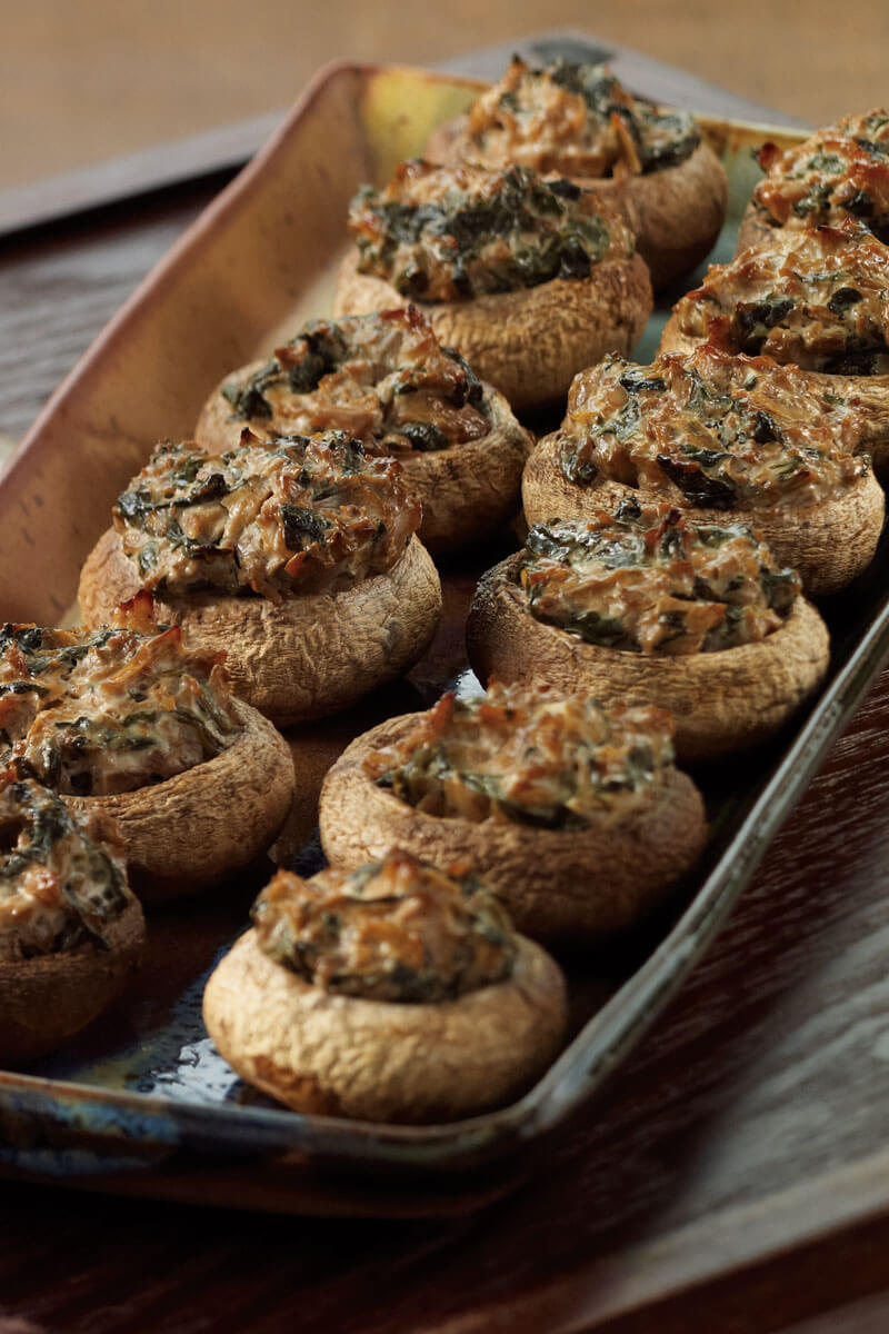 Spinach-stuffed Mushrooms | Stonyfield