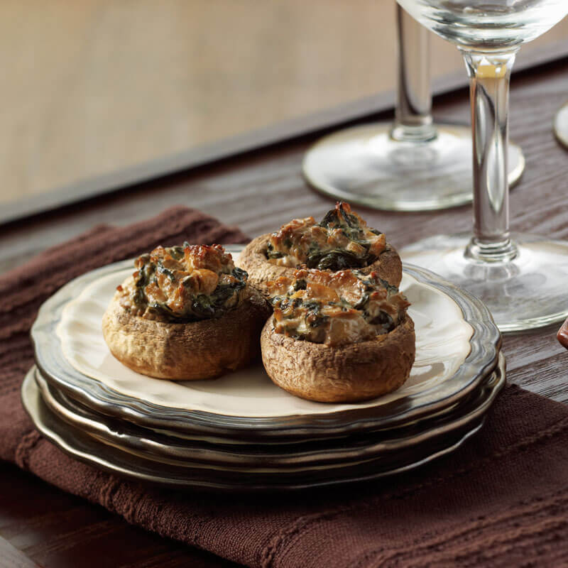 Spinach Stuffed Mushrooms | Stonyfield