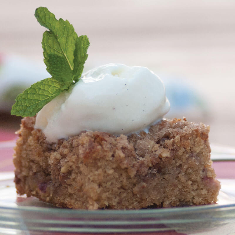 Strawberry Rhubarb Squares | Stonyfield