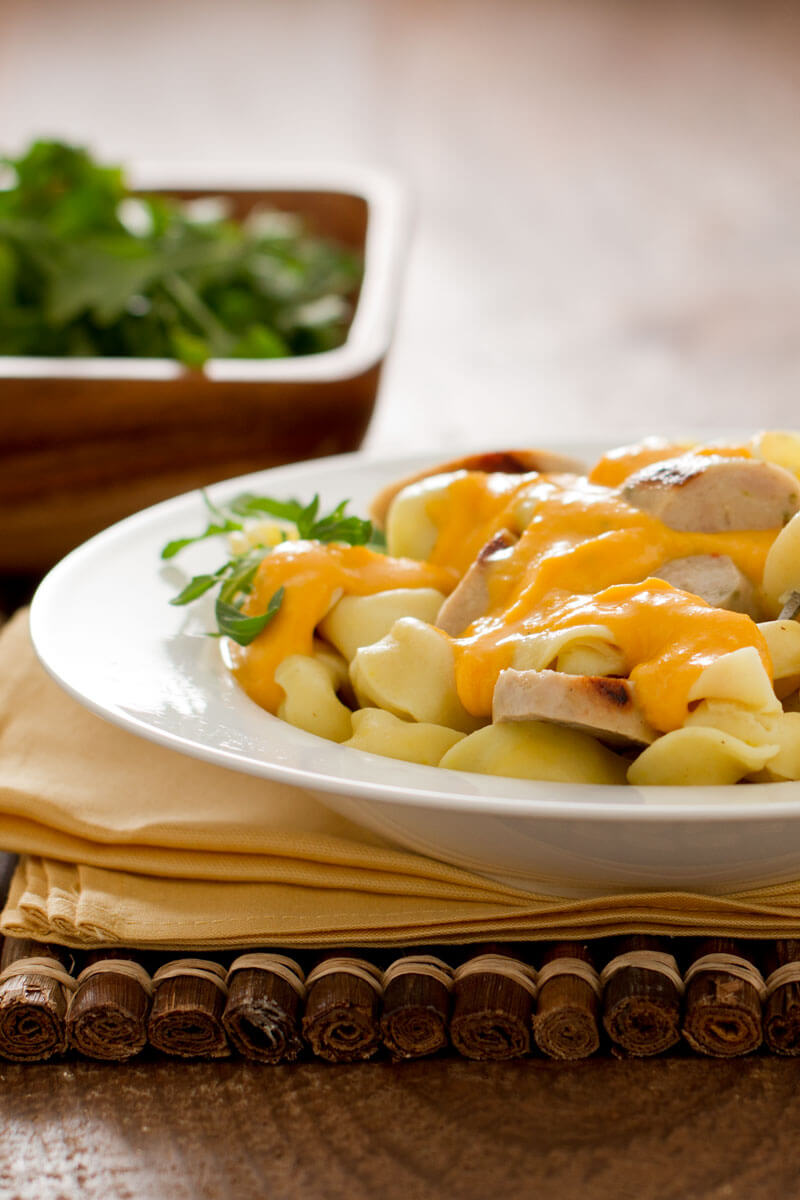 Tortellini & Sausage with Butternut Squash Sauce | Stonyfield