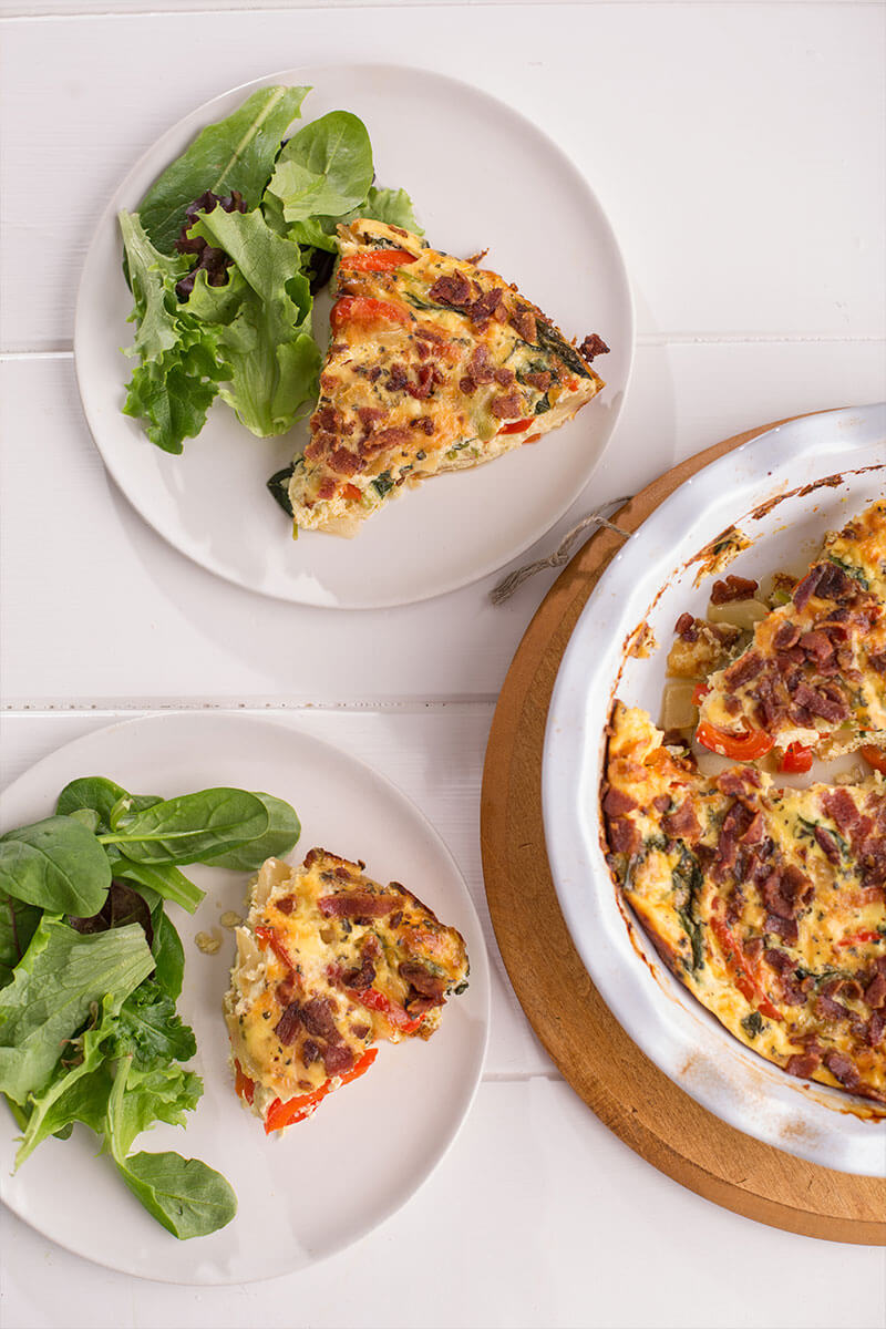 Veggie and Bacon Frittata | Stonyfield Recipes
