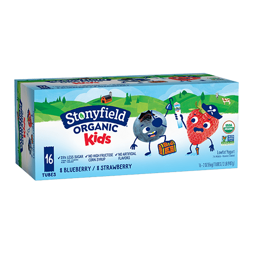 Kids Low Fat Tubes Strawberry & Blueberry