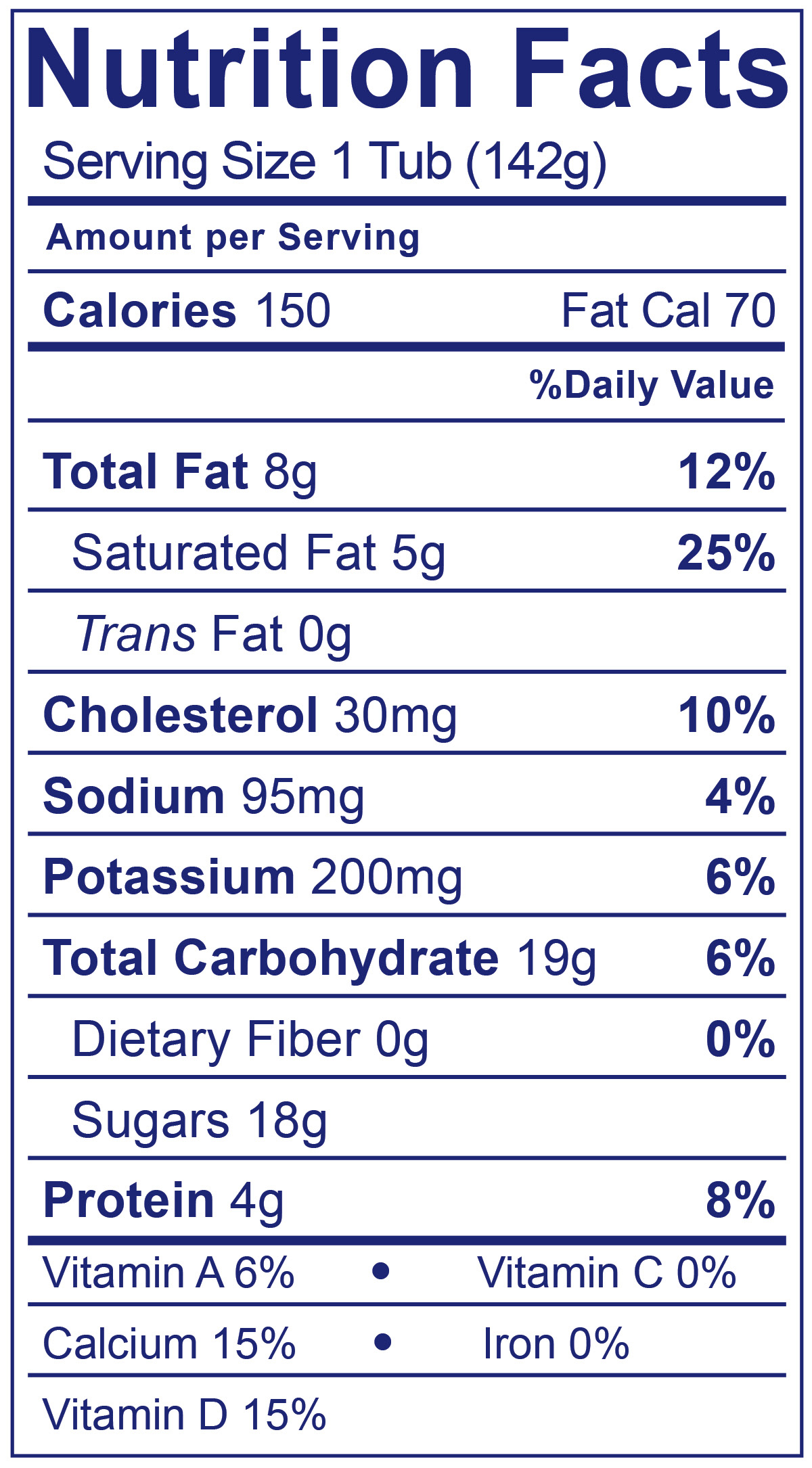 Double Cream Madagascar Vanilla - Nutrition Facts