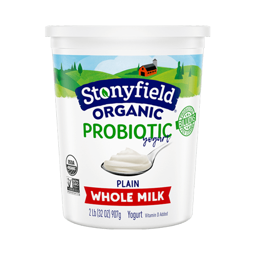 Stonyfield Organic Probiotic Whole Milk Plain Yogurt