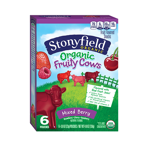 Organic Fruity Cows Mixed Berry