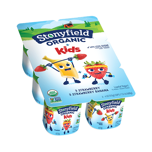 Kids Low Fat Cups Strawberry / Strawberry Banana