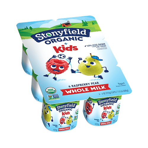 Kids Whole Milk Cups Raspberry Pear