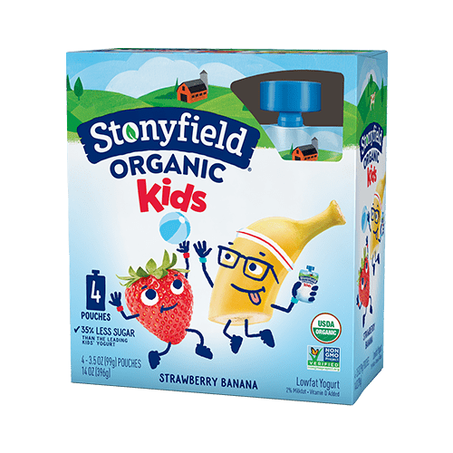 Kids Low Fat Pouches Strawberry Banana