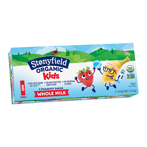 Kids Whole Milk Tubes Strawberry Banana