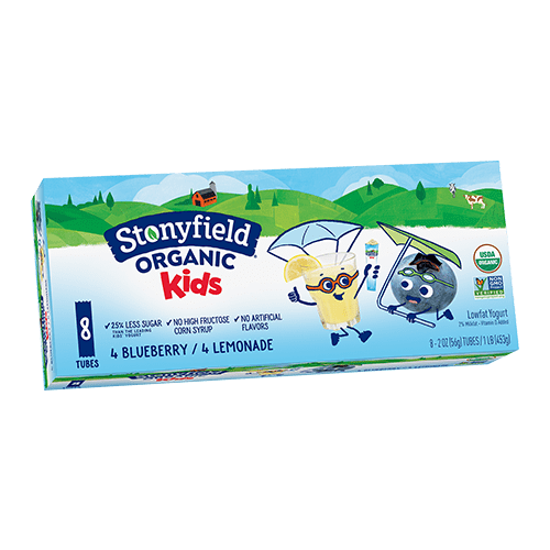 Kids Low Fat Tubes Blueberry / Lemonade