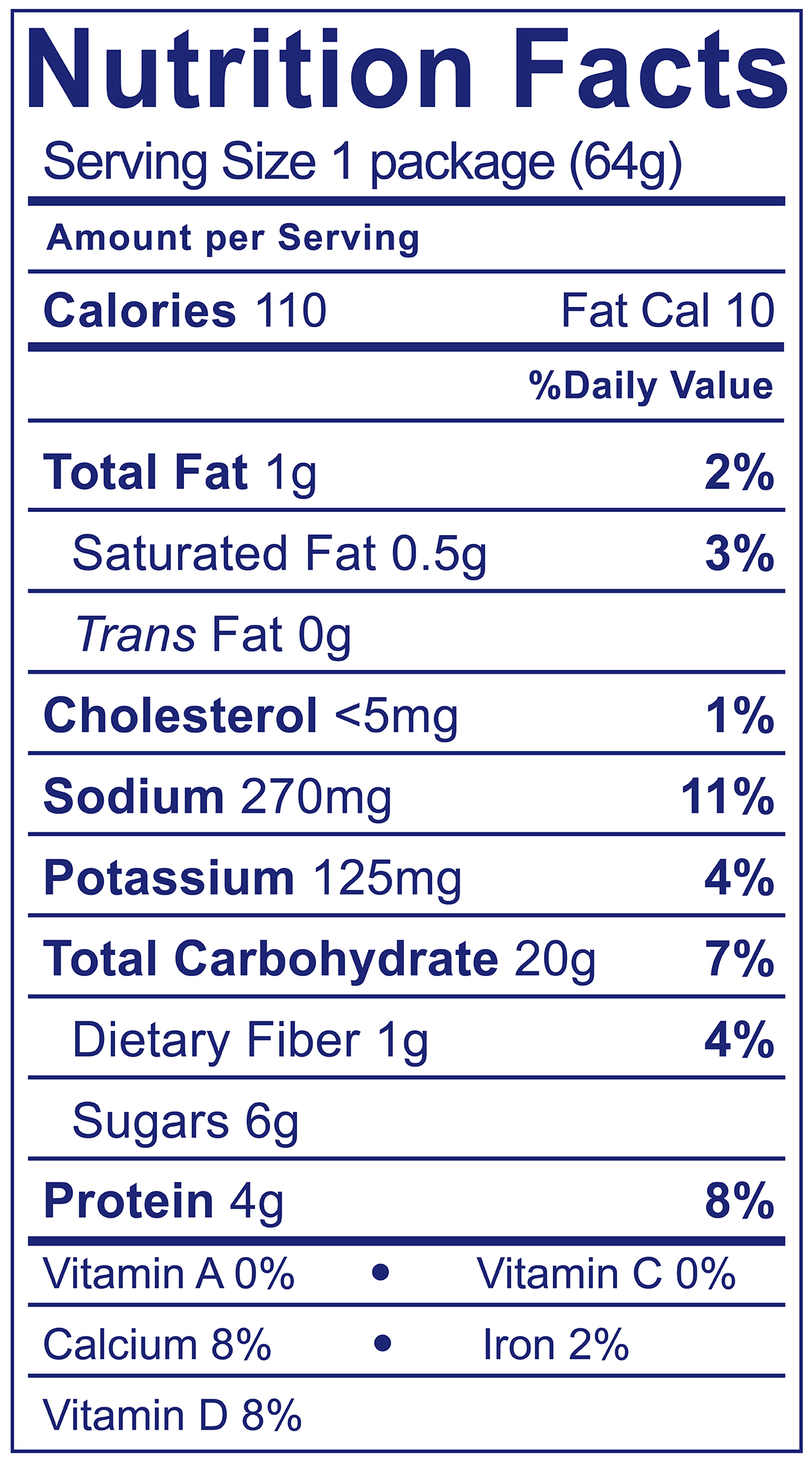 Chocolate & Pretzels Snack Pack - Nutrition Facts