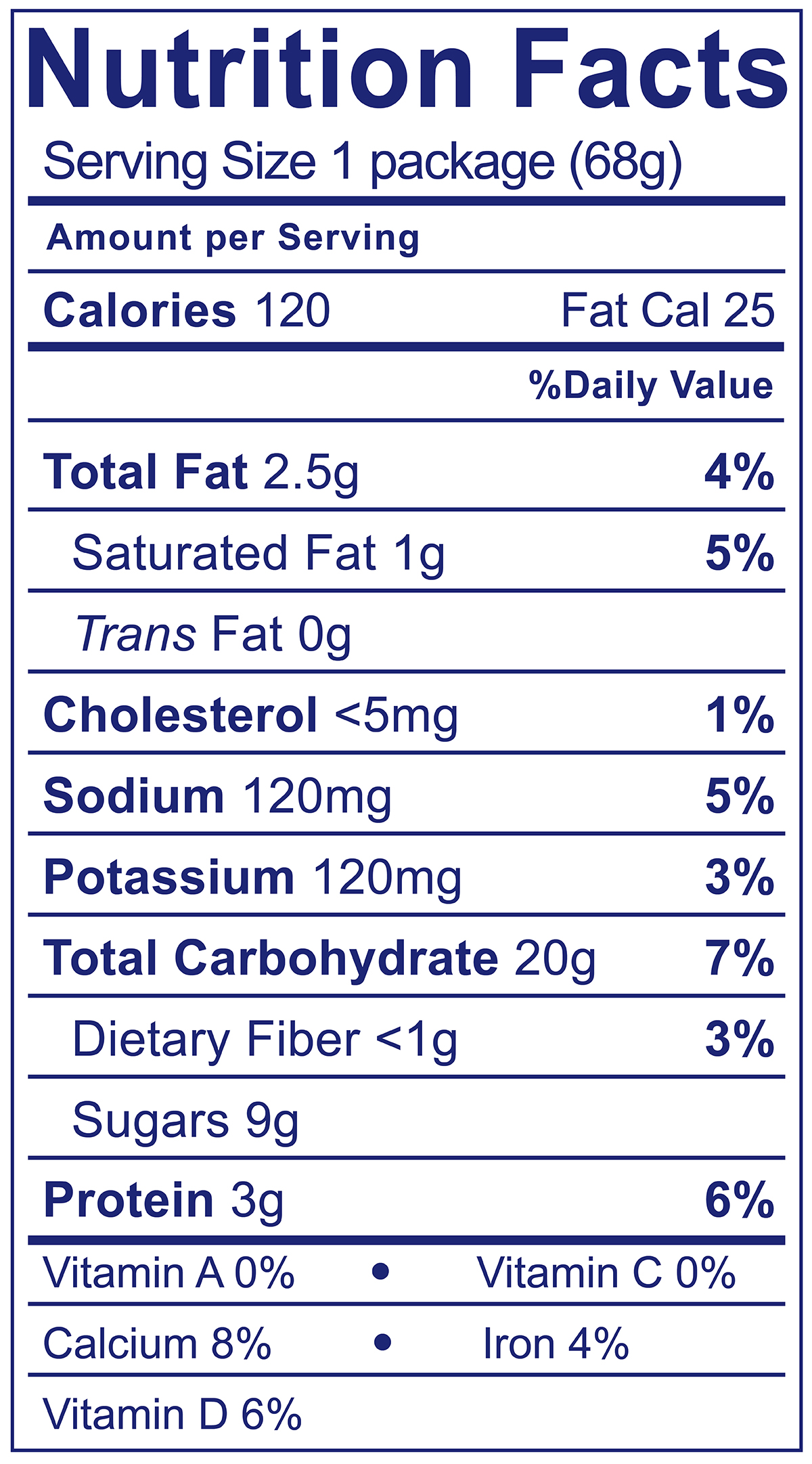 Strawberry & Graham Crackers Snack Pack - Nutrition Facts