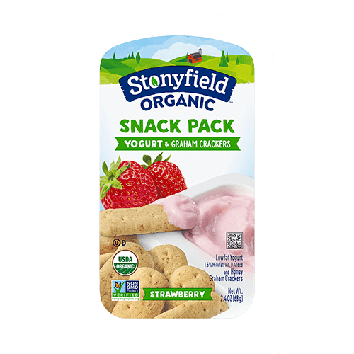 Strawberry Yogurt & Graham Crackers Snack Pack
