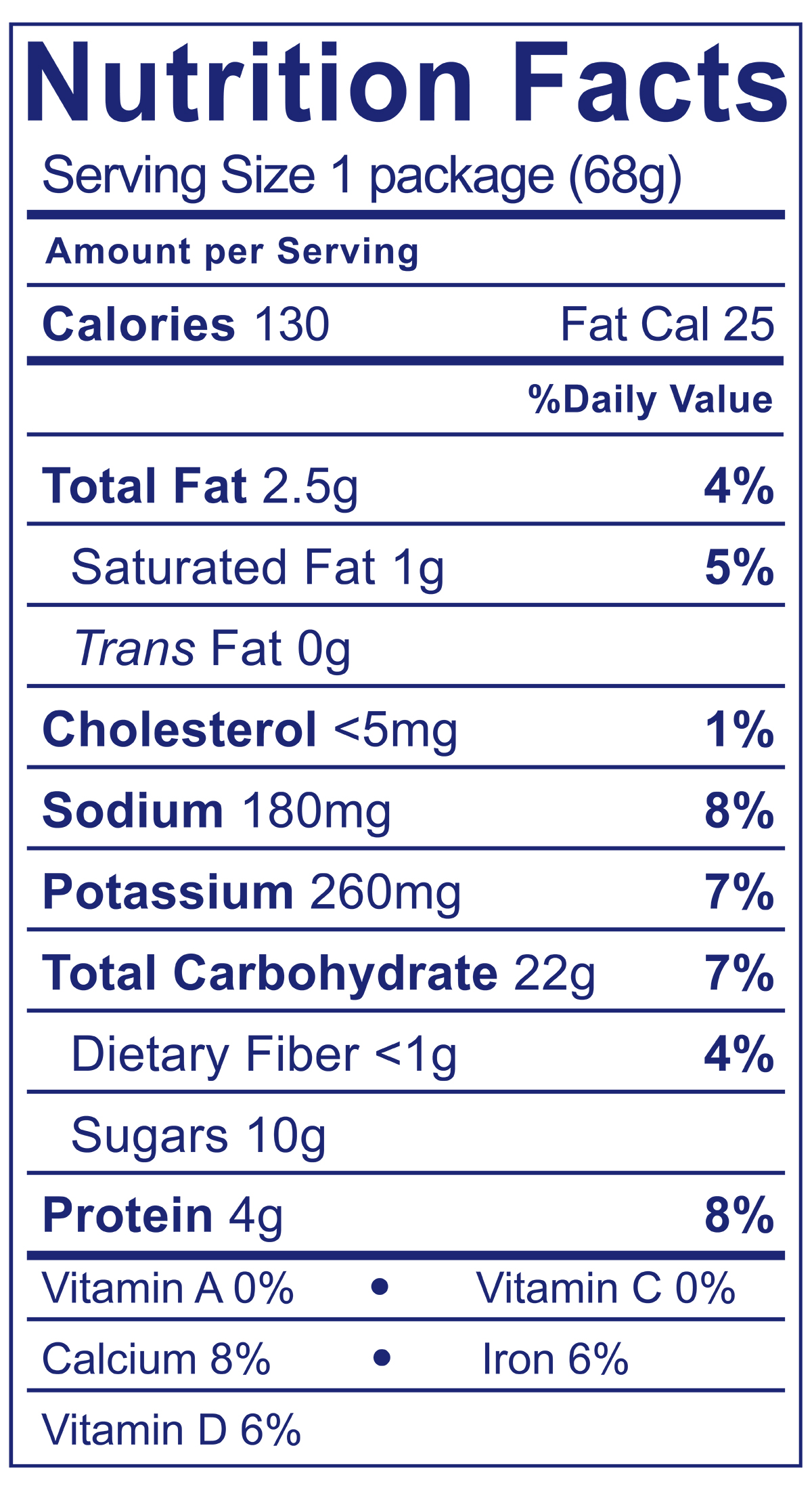 Chocolate & Graham Crackers Snack Pack - Nutrition Facts