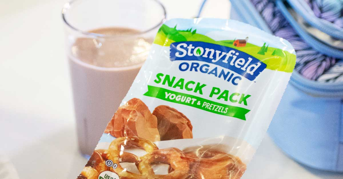 Stonyfield Organic Dips into Snack Packs - No Spoon Required