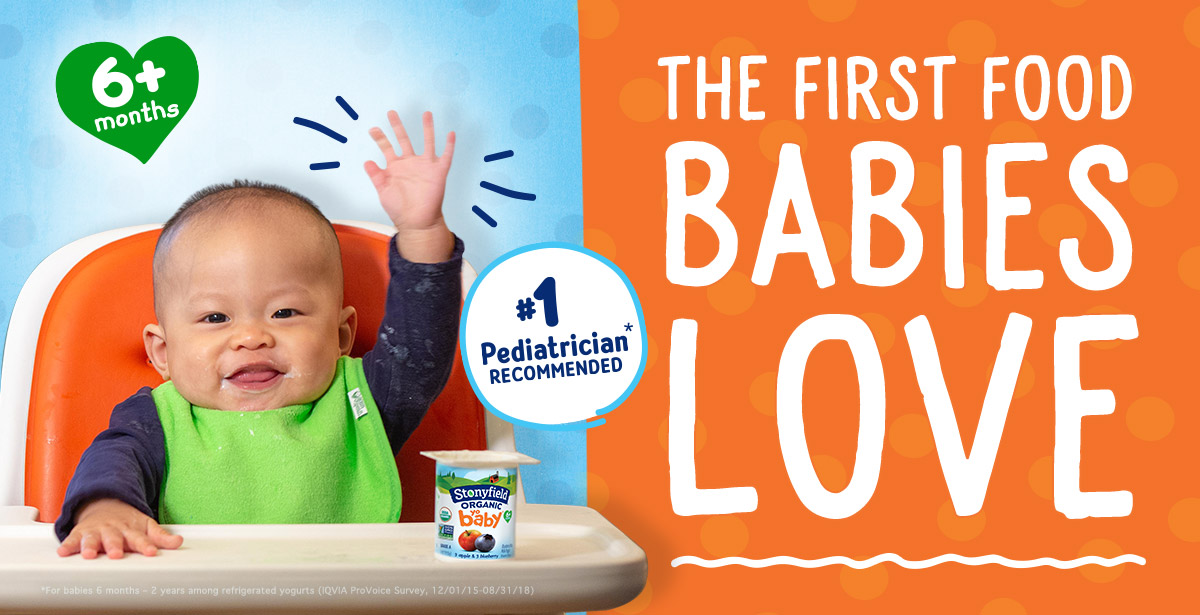 Stonyfield YoBaby Yogurt - The First Food Babies Love!