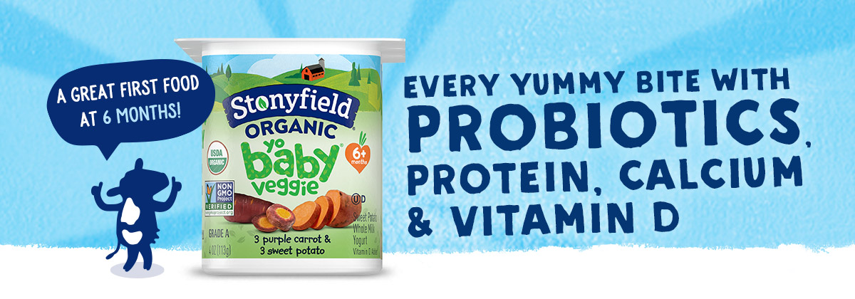 Every Yummy Bite of Stonyfield YoBaby Yogurt Comes With Probiotics, Protein, Calcium & Vitamin D