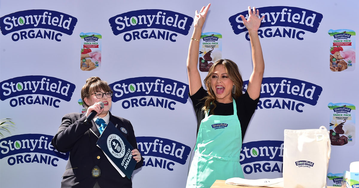 Stonyfield Organic and Vanessa Lachey Team Up to Achieve GUINNESS WORLD RECORDS™ Title